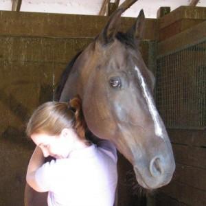 Siobhan hugs Mousie